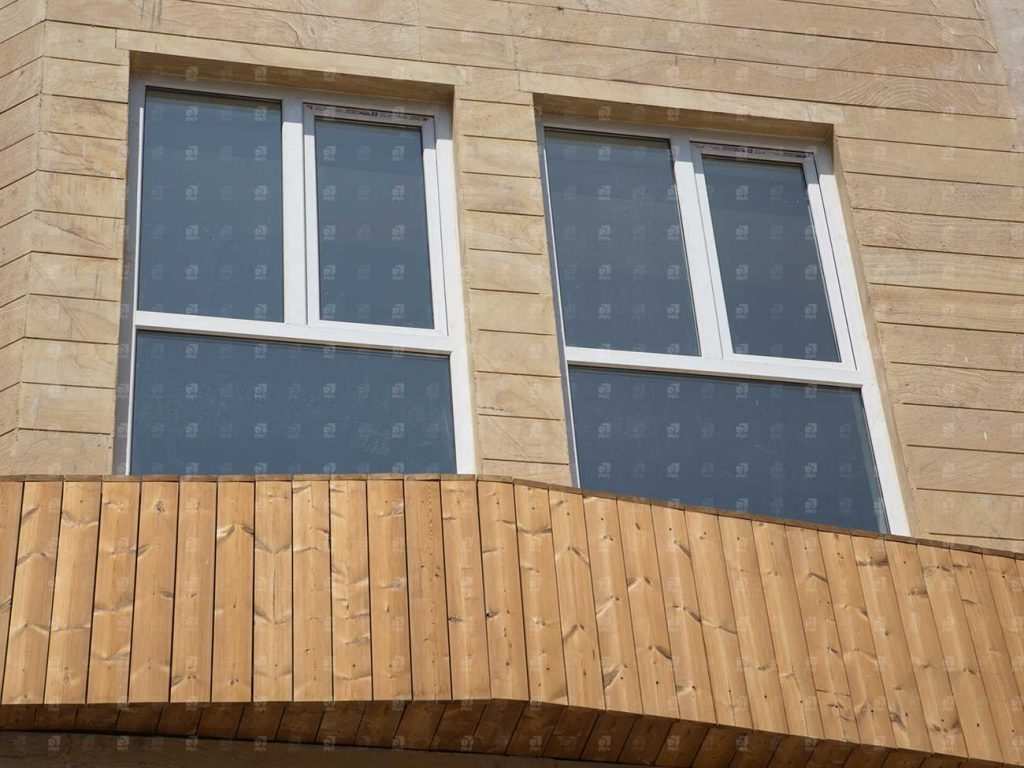 پروژه نمای چوبی ساختمان _ کد 04